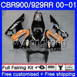 $enCountryForm.capitalKeyWord Australia - Body For HONDA CBR900 RR CBR 929 RR CBR 900RR orange black hot CBR929RR 00 01 279HM.4 CBR 929RR CBR900RR CBR929 RR 2000 2001 Fairings kit