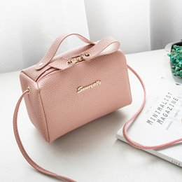 $enCountryForm.capitalKeyWord NZ - Bags For Women's Handbag Bucket Bag Small Purse Cell Phone Shoulder Bag Cute Solid Fashion Cross Body Zipper Bags Purse