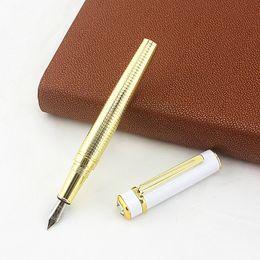 $enCountryForm.capitalKeyWord Australia - High Quality diamond Iraurita Fountain Pens Metal Fine Nib 0.5mm Gold clip Luxury School Office Ink Writing Pen Stationery