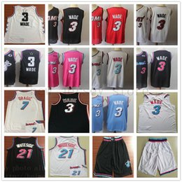 95f13e1d 2019 All Earned Star Miami Edition #3 Dwyane Jerseys White Goran 7 Dragic  Stitched Black City Hassan 21 Whiteside Basketball Shorts Jerseys