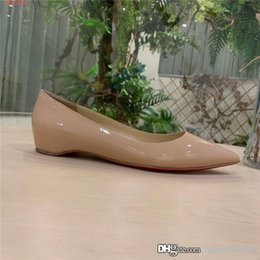 Wholesale latest ladies fashion dresses resale online – The latest Lady classic patent leather heels Pointy nude high heeled fashion business dress party heels heel height cm With box