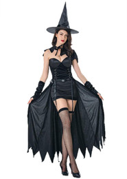Wholesale adult halloween witch costumes for sale – halloween Adult Women Witch Costume Burn Evil Wicked Trials Halloween Fancy Dress Costumes sexy