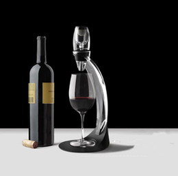 $enCountryForm.capitalKeyWord Australia - ECO Friendly Deluxe Wine Aerator Tower Set Red Wine Glass Accessories Quick Magic Decanter With Gift Box Crystal Acrylics Wholesale SN3643