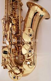 Wholesale YANAGISAWA A-990U Alto Saxophone Brass Gold Lacquer E Flat Musical Instruments Eb Tune Sax with Mouthpiece Nylon Case