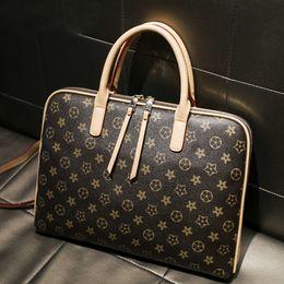 Briefcase 14 online shopping - 2019 Laptop bag inch men and women shoulder briefcase