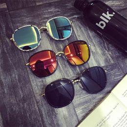 Colored Glasses Lenses Australia - Colored Glass Pattern Sunglasses Laser Mirror Eyewear Men And Women Reflective Light Eyeglass Red Blue Popular 12 5ms C1