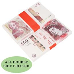 Vente en gros Wholesales Prop Pretend UK prop film bar livre monnaie 100pcs / paquet