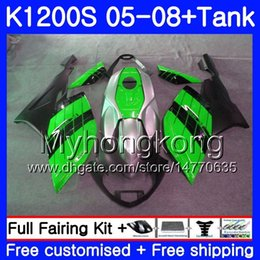 fairing bmw k NZ - Body green black hot+Tank For BMW K1200 S K 1200 S K1200S 05 06 07 08 09 10 311HM.26 K-1200S K 1200S 2005 2006 2007 2008 2009 2010 Fairings