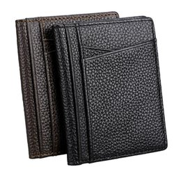 $enCountryForm.capitalKeyWord UK - Genuine Leather Mens Wallet Credit card package, ultra-thin and small certificate package, leather driver's license, driving license Case