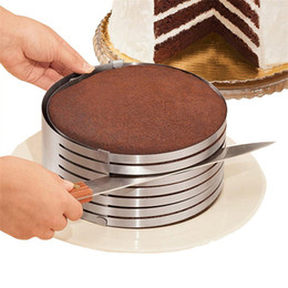 Cake layer Cutter online shopping - Adjustable Stainless Steel Layer Cake Slicer DIY Cutter Kit Mousse Mould Slicing Accessories Cake Circular Baking Tool JK1911
