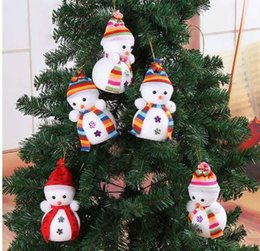 Tiny Christmas Gifts Australia - Exclusive Christmas Decoration For Home X'masTree Hanging Decorations Snowman Doll Children's Gift Tiny Toy Random Color
