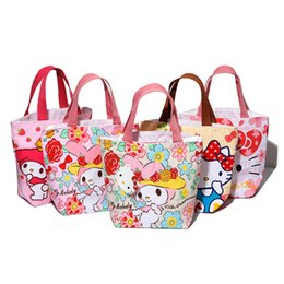 Japan Hello Kitty Melody Lovely Canvas Bag Kids Lunch bag Picnic Thermal  Lunch Bags For Women bolsa almuerzo lancheiras L11 b7bfdd88e42ac