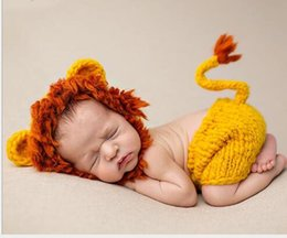 $enCountryForm.capitalKeyWord NZ - Style Lion Clothes Baby Animal Style Lion Plays Clothes Wool children's clothing Baby photographic Costume baby cosplay cloth