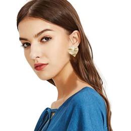 $enCountryForm.capitalKeyWord Australia - heart pearl charm earrings for women golden silver water ripple alloy hearts earring girl western grace luxury jewelry free shipping