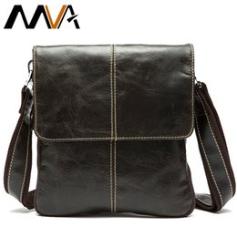 Messenger Bags For Men Leather Australia - Mva Messenger Bag Men's Genuine Leather Shoulder Bag For Men Leather Man Fashion Small Flap Male Crossbody Bags Handbags 8006 Y19051802