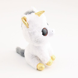 d04f4d9d254 beanie boos big Ty Beanie Boos Big Eyes White Unicorn Stuffed   Plush  Animals Toys Dolls