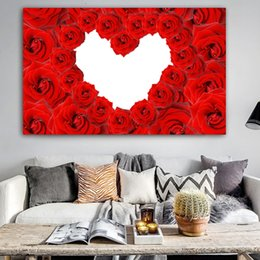 $enCountryForm.capitalKeyWord Australia - 1 Panel Poster Wall Art Canvas Painting Flower Print Red Rose Wall Pictures for Living Room Cuadros Home Decoration No Frame