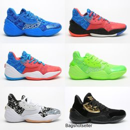 james harden basketball shoes Australia - Nerw Harden Vol.4 Basketball Shoes For Men James LS PK Bred Black White Sneakers mens Sports running shoes