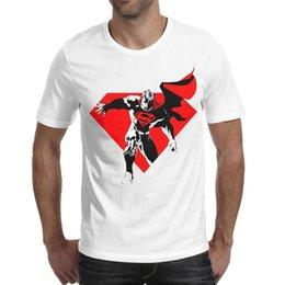$enCountryForm.capitalKeyWord Australia - Superman logo red and black whie men short sleeve t shirt bulk t t shirt 100%cotton hip hop crazy men's Tops Pullover