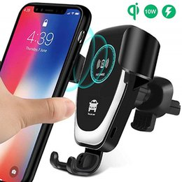 Wholesale Wireless Car Charger W Fast Wireless Charger Car Mount Air Vent Gravity Phone Holder Compatible for iPhone Samsung All Qi Devices