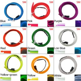 $enCountryForm.capitalKeyWord Australia - 5M 9-color Flexible Moulding EL Neon Glow Lighting Rope Strip With Fin For Car Decoration SKU:#4635
