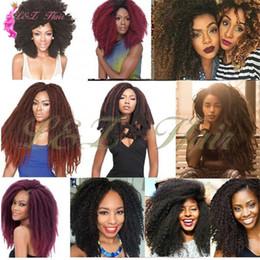 $enCountryForm.capitalKeyWord Australia - Marley Braids Hair Extension Afro Curly Synthetic Crochet Kanekalon Weave Soft Afro Kinky Kanekalon Ombre Purple Marley 18inch