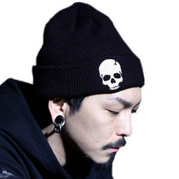 $enCountryForm.capitalKeyWord Australia - Winter Hat Skulls cap Embroidery Men Warm Knit hat Beanie Punisher Cool Skeleton Punisher Knitted Hat Adults Teenagers Boy