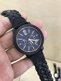 Womens Waterproof Luxury Watches Australia - New High quality Luxury mens Watch Quartz Chronograph 40mm womens Sport Watches Woven leather Business Waterproof Wristwatch free delivery
