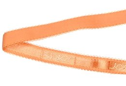 $enCountryForm.capitalKeyWord Australia - DIY Nylon webbing orange pattern jacquard knitted elastic trim fabric woven for bra high quality 12mm wide straps custom SCS1634-12