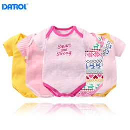 Cheap fashion baby Clothing online shopping - Cheap baby romper fashion boys girls short sleeve cotton floral striped printed triangle clothes newborn infant onesies jumpsuits rompers