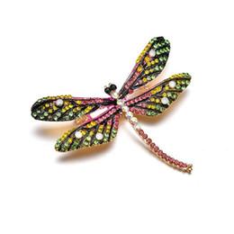 Großhandel 2019 neue Mode Vintage Bunte Emaille Libelle Broschen Schmuck Für Frauen Geschenke Weiblichen Schmuck b412