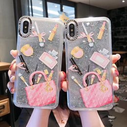 $enCountryForm.capitalKeyWord Australia - Dynamic liquid Cosmetic Quicksand Cover Case For iPhone XS Max XR 6S 7 8 Plus 6 Lipstick Perfume Bottle Capa Phone case ipone X