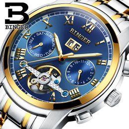 Wrist Watch Binger Australia - 2019 Switzerland Mechanical Watch Men Wrist Sapphire Binger Luxury Brand Waterproof Watches Male Wrist Sapphire Relogio Masculin Y19052301