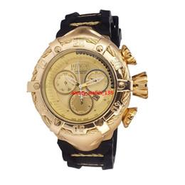$enCountryForm.capitalKeyWord Australia - INVICTA Luxury Gold Watches Men Sport Quartz Watch Chronograph Auto date rubber band Wrist Watch for male gift Wristwatches