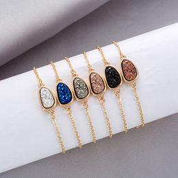 Crystal Drop Ornaments Australia - 10 Color Design Women Bracelets Water Drop Diamond Jewelry Female Bracelet Crystal Cluster CHarm Bracelets Natural Crystal Stone Ornaments