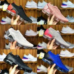 2019 Nike Air Max Vapormax 2.0 Shoes New airmax flyknit Uomo Donna Scarpe da corsa Economici Zebra Triple Nero Bianco Tiger Rosso Orbit Olympic Designer Trainer Sport Sneaker in Offerta