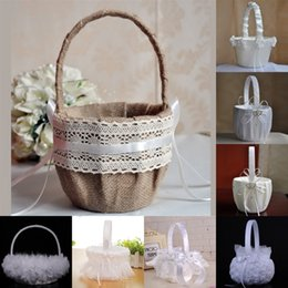 Home 2pcs Wedding Flower Basket For Bridal Ceremony Party Decoration Refreshment