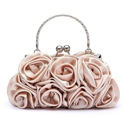 $enCountryForm.capitalKeyWord NZ - Floral Ladies Clutch Bag Women Evening Party Bag Prom Bridal Diamante Baguette Silver