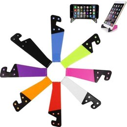 Cheap Phone Tablet Pc Australia - Mini Foldable Multifunctional Phone Holder V Shape Design Stand for Cell phone Tablet PC ipad Universal Small Bracket Holders Colorful Cheap