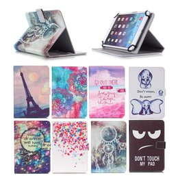 Design Tablet Australia - Cartoon Printed Universal 10 inch Tablet Case for Huawei MediaPad T3 10 T1 10.0 Cases kickstand PU Leather Flip Cover Case