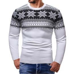 Crochet Sweater Xl Australia - Men Sweater O-neck Casual Striped Sweaters Thick Warm Sweater Men Brand Mens O-neck Patchwork Knitted Solid Men Sweaters T190618