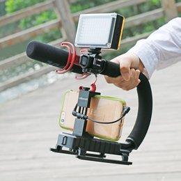 Dslr Camera Mount Rig Australia - Freeshipping U-Grip Triple Shoe Mount Video Action stazbilizer Handle Grip Rig for Canon Sony DSLR Camera,for iPhone 7 Huawei Smartphone
