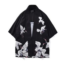 $enCountryForm.capitalKeyWord UK - Fashion Kimono Cardigans Men Trench Coat Three Quarter Sleeve Chinese Traditional Design Clothes Loose Fit Polyester Man Tops