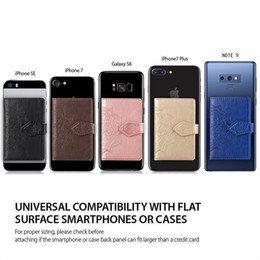 3m Iphone Australia - Universal Back Phone Card Slot 3M Sticker Leather Phone Stick On Wallet Cash ID Credit Card Holder For iPhone XR X Galaxy Note9 S9 Hot sell
