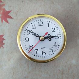 Großhandel 5PCS Gold Farbe heraus Durchmesser 80mm Quartz Insert Clock Eingebaute DIY Tools Freies Verschiffen im Angebot
