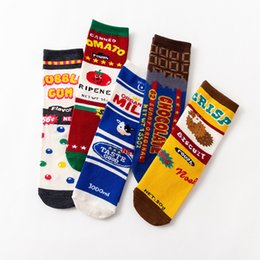wind socks wholesale NZ - PRYDY CMens Happy autumn and winter sock harbor wind chocolate cow box skateboard men women long cotton youth socks Knee-High