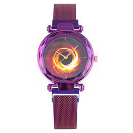 $enCountryForm.capitalKeyWord UK - Casual Steel Mesh Strap Watch for Women Timekeeper Classic Hole Pattern Quartz Watch Movement Durable Magnet Buckle Wrist Watch