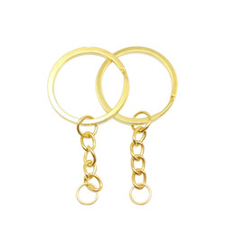 $enCountryForm.capitalKeyWord Australia - 25mm Key Chain Key Ring Long 45mm Popular Classic 2 Colors Plated Lobster Clasp Key Hook Chain Jewelry Making For Keychain