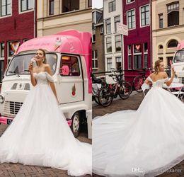 $enCountryForm.capitalKeyWord NZ - Charming Off Shoulder A Line Wedding Dresses With Appliqued tulle floor Length Custom Made Vestido De Novia plus Size WEdding Dresses