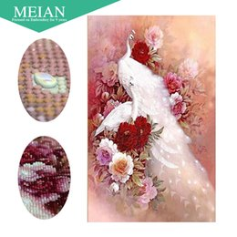 Peacock Paintings Australia - Meian,Special Shaped,Diamond Embroidery,China,Animal,Peacock,5D,Diamond Painting,Cross Stitch,3D,Diamond Mosaic,Decoration